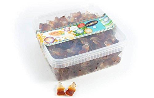 Deine Naschbox - Zuckerfreie-Fruchtgummi-Cola-Fläschchen - 1kg Box