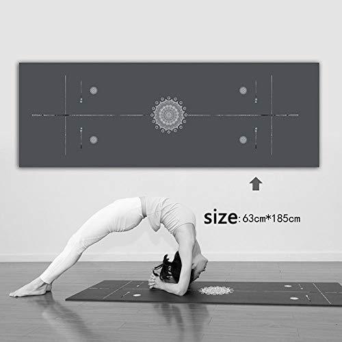 Estera de Yoga Yoga Pad Towel Anti Slip Print Absorbente De Sudor Estera De Pilates Culturismo Plegable Suave Al Aire Libre Playa Gimnasia Estera De E
