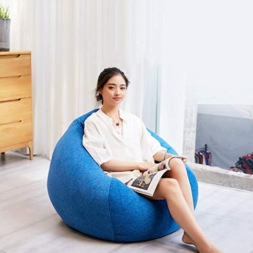 XSJASDNCDG Faules Sofa Sofa Sack Sitzsack Stuhl for Erwachsene - Lazy Sofa- Bean Bag Chair + Fußbank-Soft-Mikrofaser-Cover - Hohe Qualität Umwelt Particle Filling -Wohnzimmer, Schlafzimmer