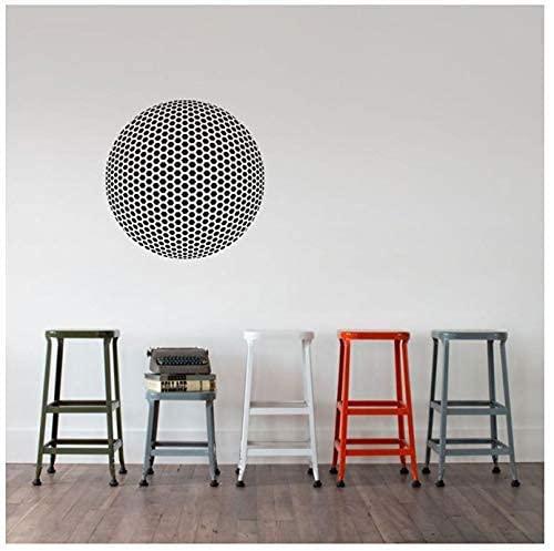 Enrejado Geodésico Esférico Decoración De Pared De Vinilo Ilusión Óptica Artista De Geometría Decoración De Pared De Sala De Estar 42X42Cm