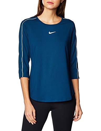 Nike Damen Nikecourt Tennis-Trikot, Azul Valeriana/Blanco, S