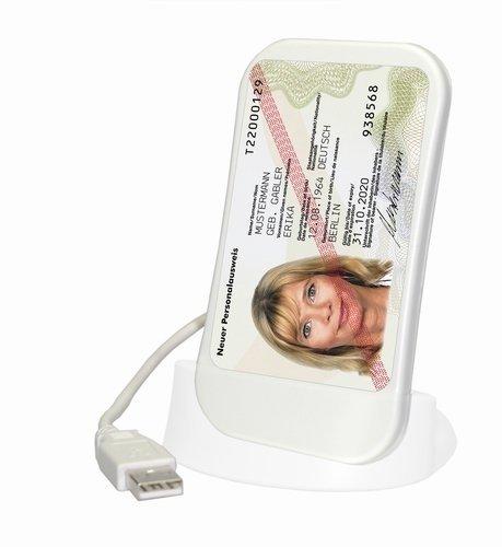 SCM SCL011 - USB Multiprotokoll SmartCard Reader von SCM zum Lesen des nPA - elektronischen Personalausweis