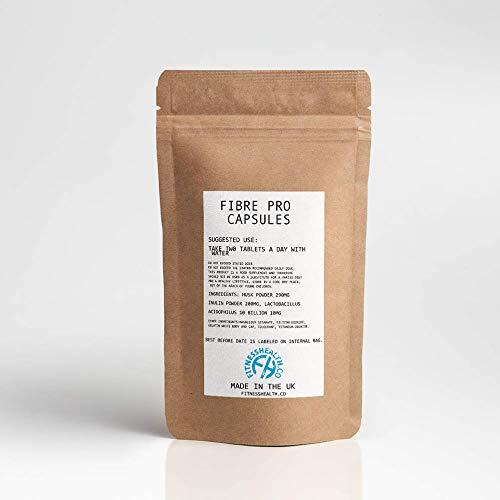 Fibre Pro Capsules - Inulin Powder Husk Powder Digestive System Supplement 60 Capsules