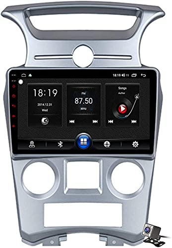 LYHY Android 10 AutoRadio 2 DIN Car Stereo Navegación GPS para automóvil para Kia Carens A 2006-2012 Carplay Soporte Android Auto/Multimedia FM RDS DSP/Control del Volante/Llamadas Manos Libres