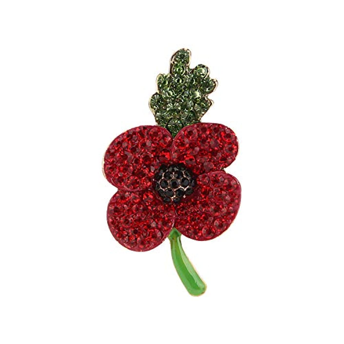 Luxury Red Purple Poppy Brooches for Women Remembrance Day Gifts Jewelry