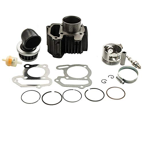 Cylinder Piston Gasket Top End Kit for Yamaha Raptor 80 for Yamaha Badger 80 for Yamaha MOTO-4 80 for Yamaha Grizzly 80