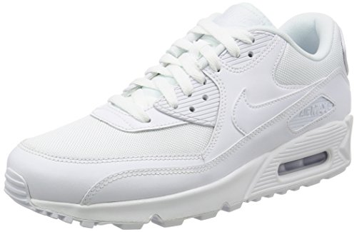 Nike Herren AIR MAX 90 Essential Low-Top, Weiß (White/White-White-White), 47.5 EU