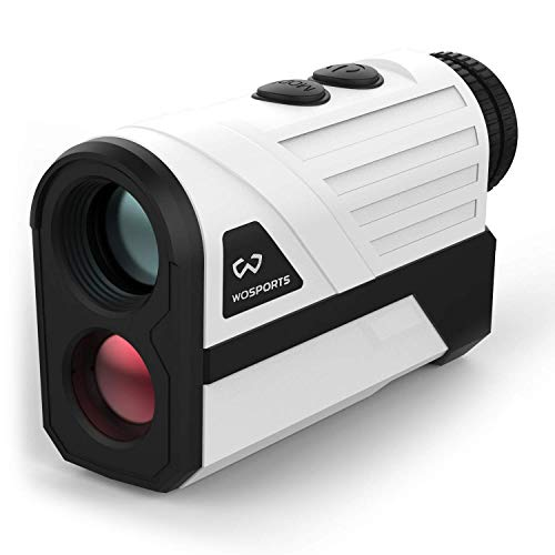 WOSPORTS Golf Rangefinder, 650 Yards Laser Distance Finder with Slope, Flag-Lock with Vibration Distance/Speed/Angle Measurement, Upgraded Battery Cover (Renewed)
