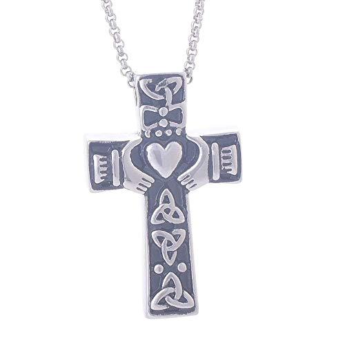 N / D Collar De Cremación Joyería Conmemorativa de la cremación de la Cruz para el Collar Pendiente del Recuerdo de la urna de Las Cenizas