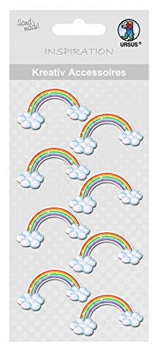 Ursus 564000268 - Kreativ Accessoires, 8 Stück, regenbogen