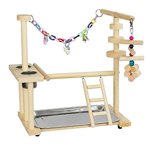 Bird Playground, Cockatiel spelenStand, Parrot Play Stand Wood Perch Gym Box Ladder Toys for Cockatiel Parkiet…