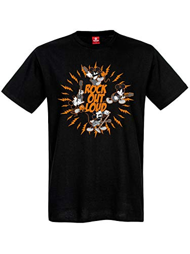 Disney Rock Out Loud T-shirt pour homme - Noir - XX-Large