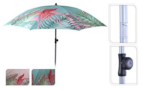 Meinposten. Sonnenschirm Strandschirm UV-Schutz 40+ Schirm Balkonschirm Ø 175 cm rosa türkis (Türkis)