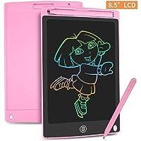 HOMESTEC Tableta Escritura LCD Color 8,5 Pulgadas, Tablet Dibujo, Tablet para Dibujar para Niños. Juguete Educativo (Rosa)
