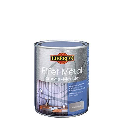 LIBERON Effet métal pour meubles et lambris, Aluminium, 1L