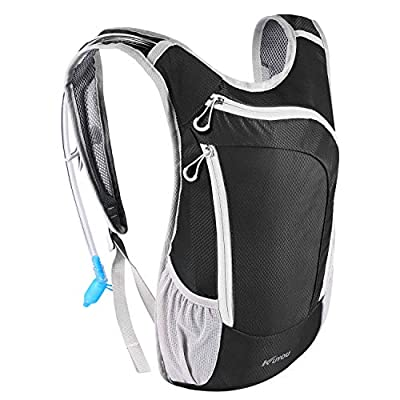 KUYOU Hydration Pack,Hydration Backpack with 2L Hydration Bladder Lightweight Insulation Water Pack for Running Hiking Riding Camping Cycling Climbing Fits Men & Women (Black)