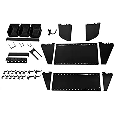 Wall Control KT-400-WRK B Slotted Tool Board Workstation Accessory Kit for Wall Control Pegboard Only, Black