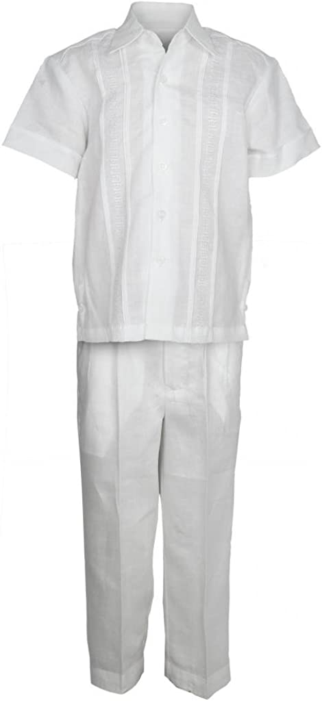 Mojito Kids Boys 100% Linen Embroidery Design Shirt and Pant Set