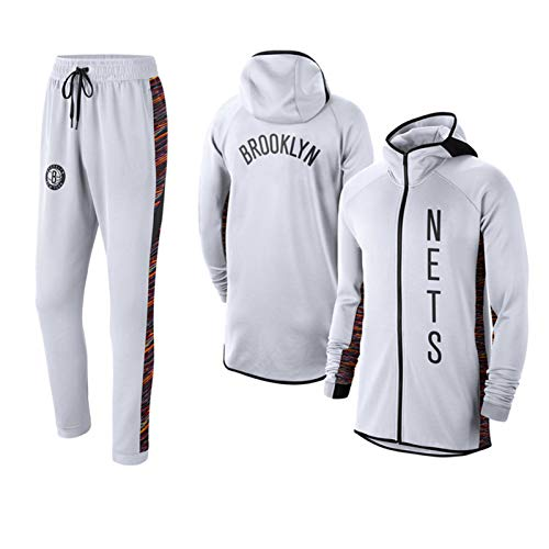 FGRGH Brooklyn Nets - Juego de sudadera con capucha para hombre, sudadera...