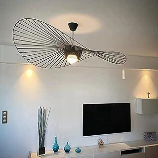 YONIISEA Lustre Vertigo 120 cm, Suspension Rétro Vertigo Salon Lustre, Lampe LED E27 Max 40W, Conception de Chapeau en Tis...