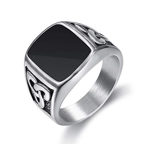 Fashion Personality ringSize Ee.Uu.7 To 15 Vintage Style Punk Silver Color Titanium Stainless Steel Irish Knot Ring For Men Women Retro Jewelry