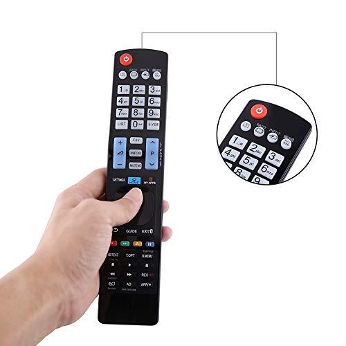 Jopwkuin Controlador de TV Universal, Control Remoto de TV Teclas de navegación de menú dedicadas Control Remoto de Repuesto dedicado para AKB73615309 AKB72615379 AKB72914202