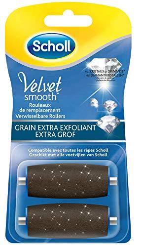 Scholl Rouleaux de Remplacement pour Râpe Electrique Velvet Smooth - Grain Extra Exfoliant - Les 2 recharges