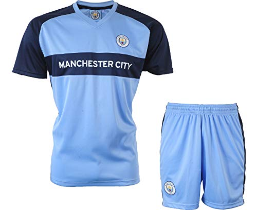Manchester City Minikit Trikot + Shorts Offizielle Sammlung - Junge Kindergröße 12 Jahre