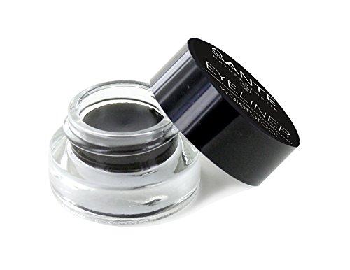 SANTE Naturkosmetik Eyeliner Waterproof schwarz, Im Tiegel, Natürlich & wasserfest, Vegan, Bio-Extrakte, Natural Make-up, 2x3ml Doppelpack