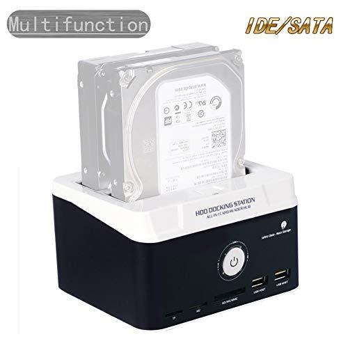 Multifuncion Cajas Externas,IDE SATA Externo Carcasa 2.5 3.5 Series Y Uso Dual Disco Duro Portátil Caja Externo Base