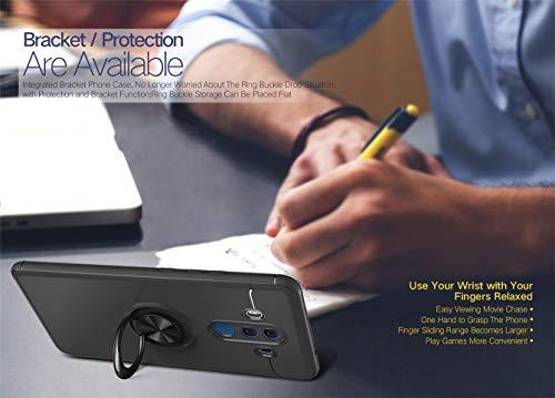 Kompatibel mit Huawei Mate 20 Pro Hülle Huawei Mate 20 Lite Silikon Schutzhülle Handyhülle Shockproof Handytasche Ultra dünn Auto Mount Halter Schutz mit Griff Ring Halter (Pink, Mate 20 Lite) - 4