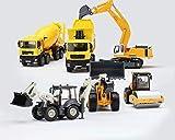 Zeyujie 01:50 aleación de paquete de seis carro de la ingeniería establecer acero negativa sola pulsación carretera rueda pista bulldozer camión mezclador de excavación carretilla elevadora aleación c