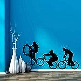 Tianpengyuanshuai Vinilo para Pared Bicicleta Sport Extreme Home Vinilo 42X82cm