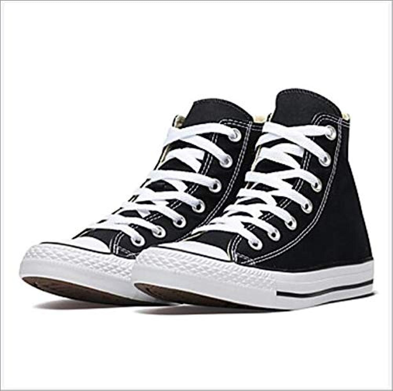 Women's Canvas Fall Spring & Summer Casual Sneakers Walking shoes Flat Heel Round Toe Black,US6.57 EU37 UK4.55 CN37