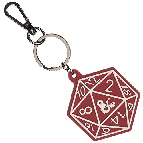 Dungeons and Dragons Game D20 Keychain