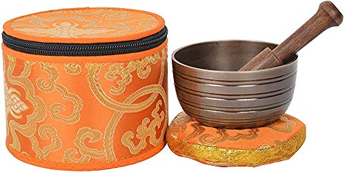 Tibetan Anahata Chakra Meditation Klangschale für Heilungsgebet, Yoga mit Hammer und Kissen (MH-SING-1072-XS)