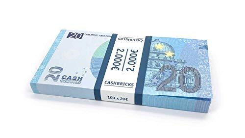 Cashbricks 100 x €20 Euro Dinero de Juguete
