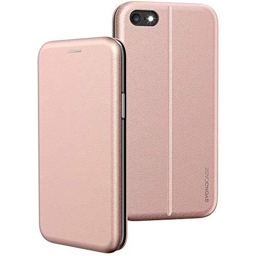 BYONDCASE iPhone 6s Hülle Rosa, Handyhülle iPhone 6 Hülle [Deluxe Leder Flip-Hülle Klapphülle] Hülle Schutzhülle kompatibel für iPhone 6s Tasche