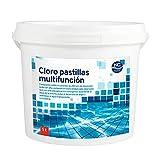 Cloro Multiacción para Piscina en Pastillas 5 Kg | Fabricado en España | 10 Acciones