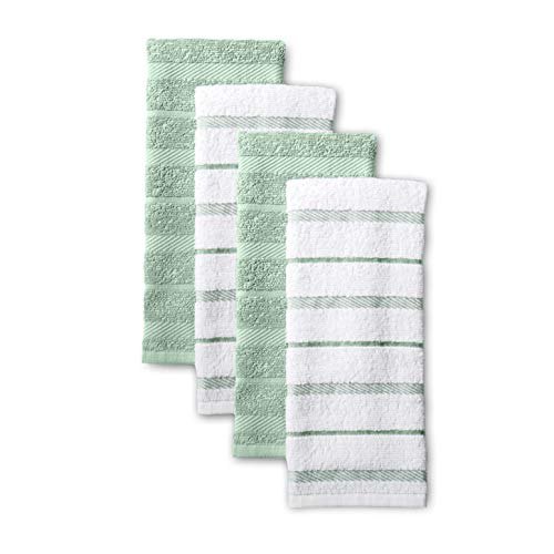 KitchenAid Albany Kitchen Towel Set, Set of 4, Pistachio