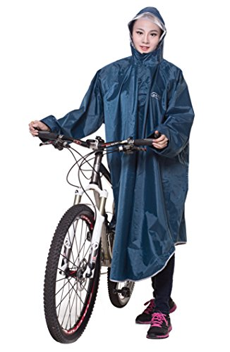 Icegrey Bike Fahrrad Regenjacken Regenponcho Wasserdicht Regenmantel für Die Jagd Camping Freizeit Regenmäntel Regencape Cyan 3XL