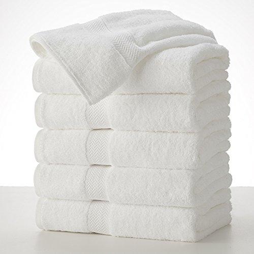 COMMERCIAL PREMIUM 6 PIECE BATH TOWEL SET BY MARTEX - 6 Bath Towels, Home, Business, Shower, Tub,...
