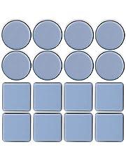 TheStriven 16 Stuks Meubels Moving Pads Teflon Meubels Glijden Ronde Meubels Sliders voor Tapijt Slider Vloer Sliders voor Tapijt Bewegende Zware Meubels Tapijt Protector (A)