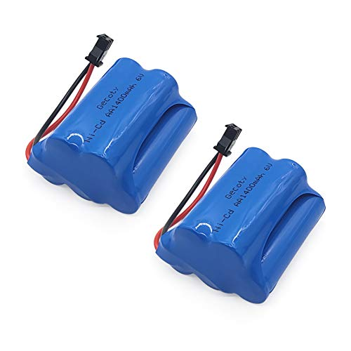 Gecoty Ni-Cd Battery Pack,2pcs 6...