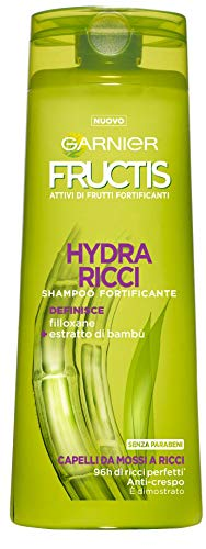 Garnier Fructis Shampoo Hydra Locken mit filoxan und Extrakten Bambus-Haar-Gelockt A, ohne Parabene, 250ml–1Packungen mit 2Einheiten