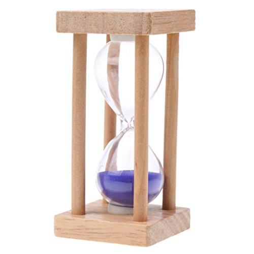 MagiDeal 5 Minutes Sablier en Bois Carré Sandglass Sand Timer Horloge à Sable Cuisine Maison Accessoire - Violet