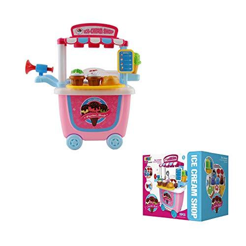 ZCOINS Carrello Gelati Giocattolo Fai Finta di Giocare Set con Giocattolo educativo per Bambini