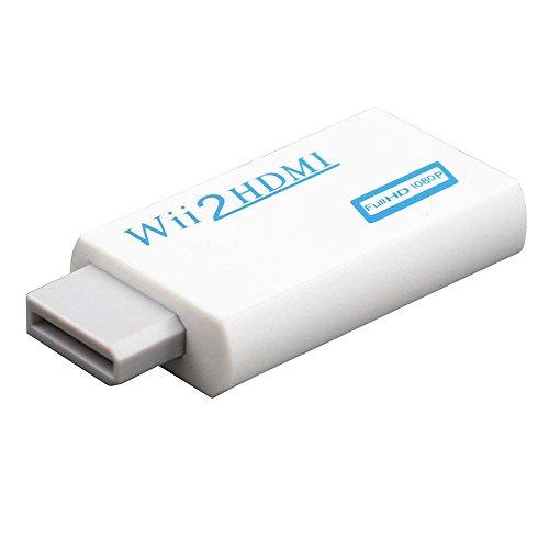 harupink Adattatore Wii a HDMI, Adattatore Console, Adattatore Convertitore da Wii a HDMI 720p   1080P HD con Uscita Audio da 3,5 mm Convertitore da Wii a HDMI per TV Proiettore Monitor Wii