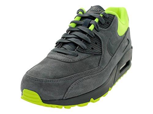Nike Air Max 90 Premium, Zapatillas bajas para hombre, Gris (Gris Amarillo Fluo), 38.5 EU