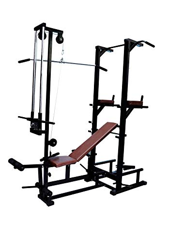 FIT KART 20 in 1 ABS Tower with LAT Pull Down, Multi Home Gym Equipment in 1.5X3 Pipe SIZEStrong Pipe